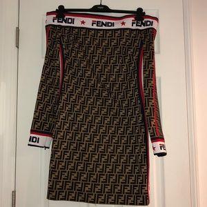 Long sleeve Fendi dress